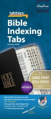 Large Print Bible Indexing Tabs Including Catholic Books [With Booklet]