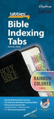 Bible Indexing Tabs Old and New Testament: Rainbow