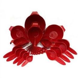 POURFect 1027 117 27Pc Bowl & Measuring Set- Empire Red
