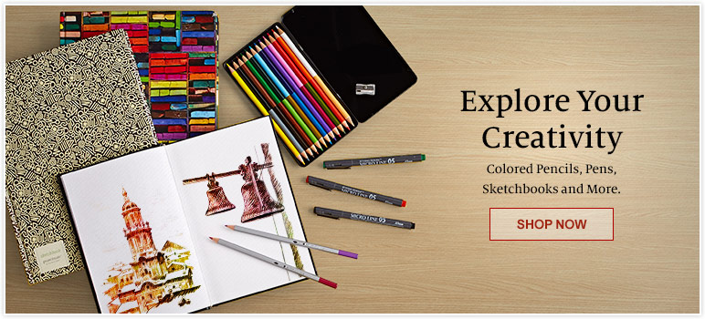 Explore Your Creativity. Colored Pencils, Pens, Sketchbooks and More. SHOP NOW