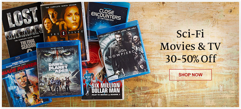 Sci-Fi Movies & TV 30-50% Off. SHOP NOW