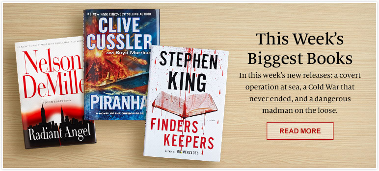 This Week's Biggest Books.  In this week's new releases: a covert operation at sea, a Cold War that never ended, and a dangerous madman on the loose. Read More