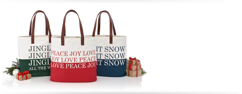 Holiday Canvas Totes