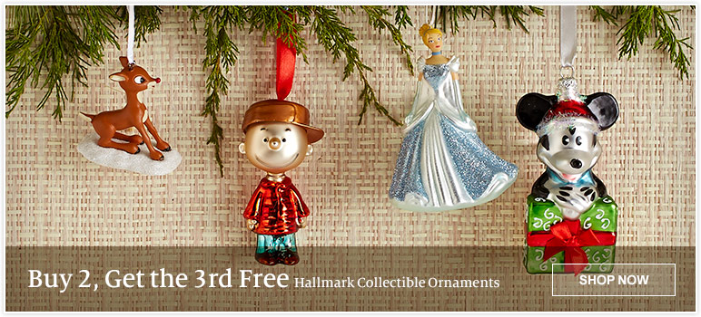 Buy 2, Get the 3rd Free - Hallmark Collectible Ornaments