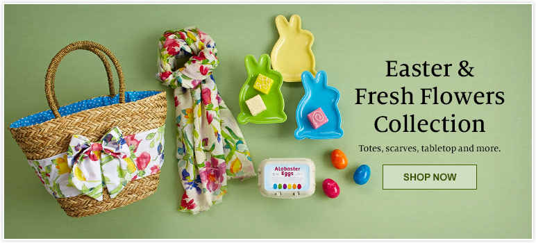 Easter & Fresh Flowers Collection - Totes, scarves, tabletop and more. Shop Now