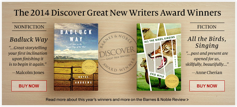 The 2014 Discover Great New Writers Award Winners