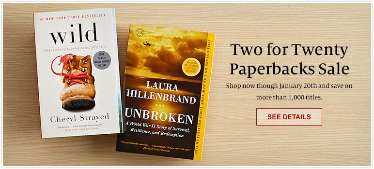 Two for Twenty Paperbacks Sale
