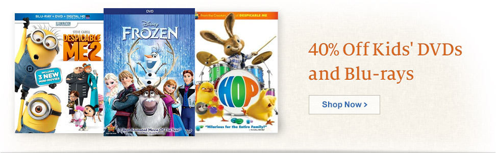 40% Off Kids' DVDs and Blu-rays. Shop Now