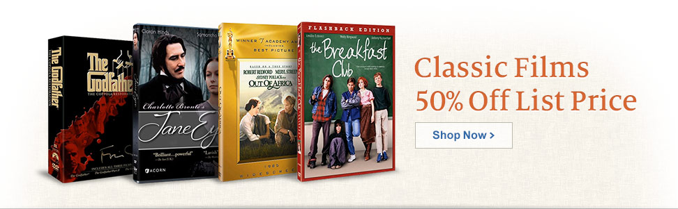 Classic Films - 50% Off List Price - Shop Now