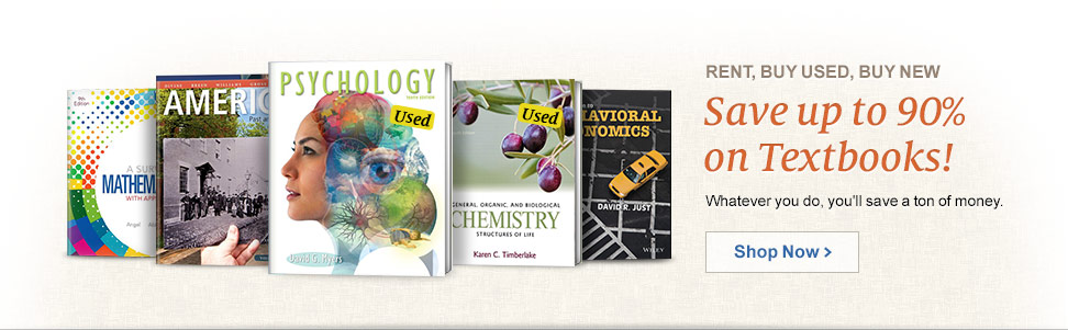 Save up to 90% on Textbooks!