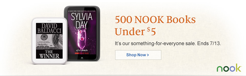500 NOOK Books Under $5 - It's our something-for-everyone sale. Ends 7/13. Shop Now