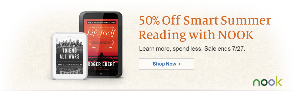 50% Off Smart Summer Reading with NOOK. Learn more, spend less. Sale ends 7/27. Shop Now