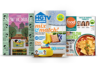 The New Yorker; HGTV Magazine; Food Network Magazine