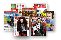 NOOK Newsstand titles - The Food Network Magazine, Snowmobiler, Rolling Stone, Esquire, Us Weekly, Men's Journal