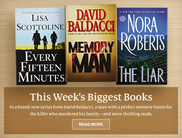 This Week's Biggest Books. A new series from David Baldacci, a man with a perfect memory hunts for the killer who murdered his family - and more thrilling reads. READ MORE