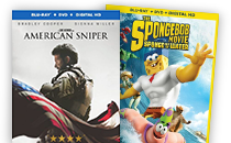 American Sniper; The Spongebob Movie: Sponge Out of Water