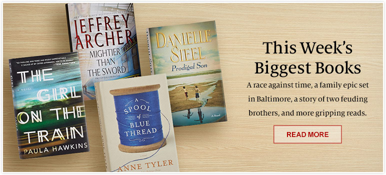 This Week's Biggest Books. A race against time, a family epic set in Baltimore, a story of two feuding brothers, and more gripping reads. READ MORE