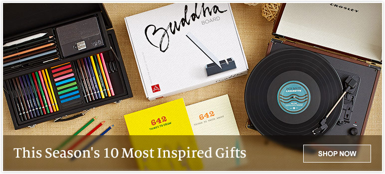 This Season's 10 Most Inspired Gifts. SHOP NOW