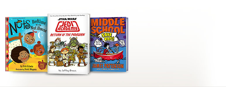 The Nuts: Bedtime at the Nut House; Star Wars: Jedi Academy: Return of the Padawan (Book 2); Middle School: Save Rafe!