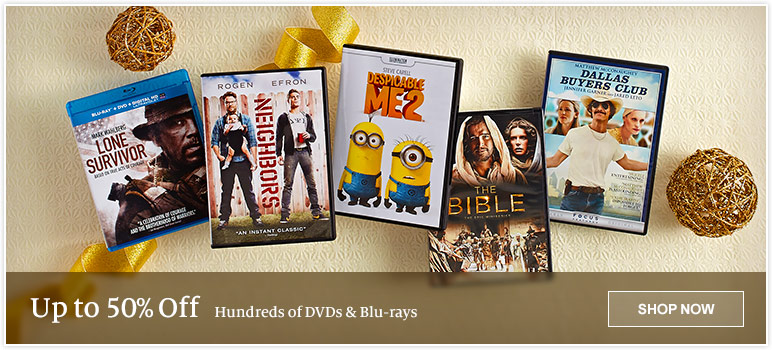 Up to 50% Off Hundreds of DVDs & Blu-rays