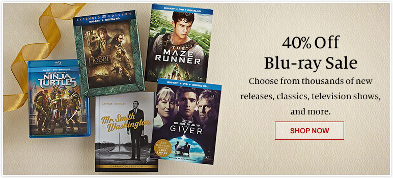40% Off Blu-ray Sale