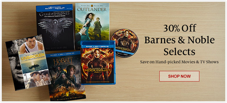 30% Off Barnes & Noble Selects - Save on Hand-Picked Movies & TV Shows. Shop Now
