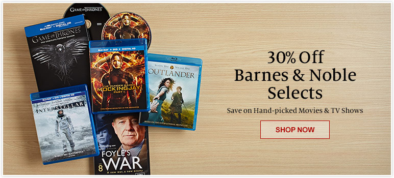 30% Off Barnes & Noble Selects