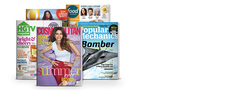 Cosmopolitan; Food Network Magazine; HGTV Magazine; O, The Oprah Magazine; Popular Mechanics