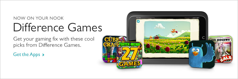 Now On Your NOOK - Difference Games. Get your gaming fix with these cool picks from Difference Games. Get The Apps