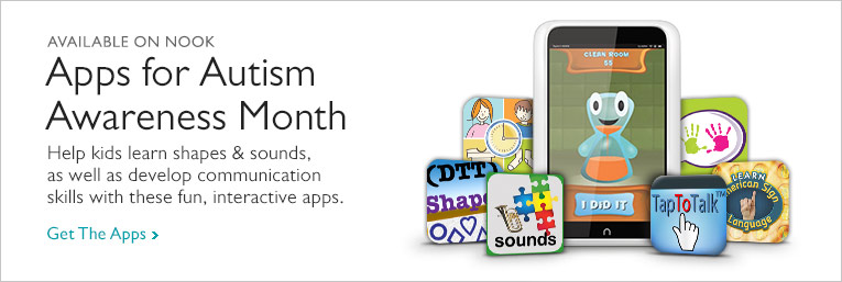 Apps for Autism Awareness Month - Help kids learn shapes & sounds, as well as develop communicaiton skills with these fun, interactive apps. Get The App
