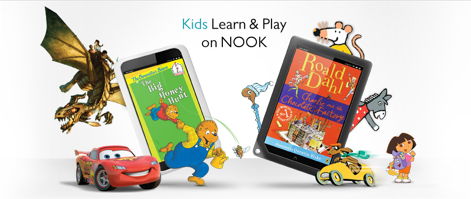 Kids learn and play on NOOK