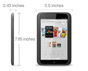 NOOK HD - Extra-light and portable