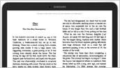 Samsung Galaxy Tab(R) 4 NOOK(R) 10.1 - Front (Reader)
