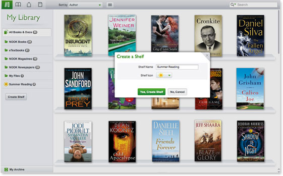 NOOK Reading Apps - Screenshot - Mac
