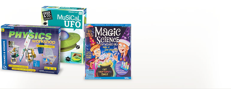 Physics Workshop intro to mechanics; Musical UFO; Magic Science for Wizards Only