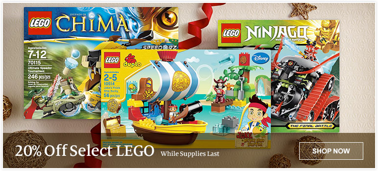20% Off Select LEGO While Supplies Last