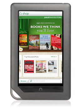 NOOK Color screen