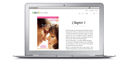 NOOK for Web on MacBook