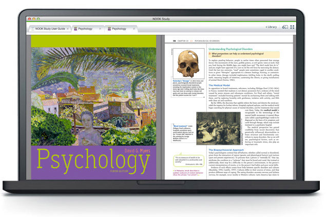 'Psychology' on a laptop